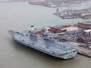 The ship can operate with a crew of 1,000 and 40 aircraft on deck, and measures 280 metres in length and weighs 65,000 tonnes.