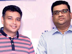 Pioneering Ventures' Akshaya Kamath (right) and MilkLane COO Gaurav Haran. Pioneering invested Rs 27 crore in MilkLane.