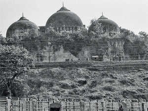Babri Masjid in Ayodhya in October, 1990