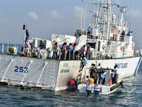 Navy ship locates 17 boats with 180 people off Lakshadweep