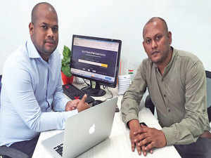 Saswat Sahu (left) and Subhasish Das, Co-founders, Trukky, a startup, founded with an investment of Rs 15 lakh.