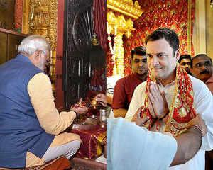 Gujarat elections: Modi-RaGa continue 'temple run' on the last day of campaigning