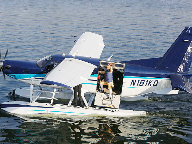 PM Modi's seaplane ride on Sabarmati river