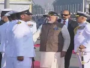 Watch: Modi dedicates scorpene-class submarine INS Kalvari to the nation