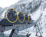 World's steepest funicular railway in Switzerland