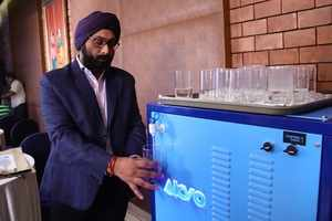 This machine can turn thin air into 5,000 litres of water per day.