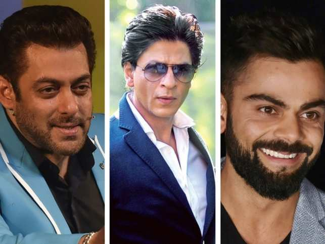 Kohli topples SRK to become India's most valued celebrity