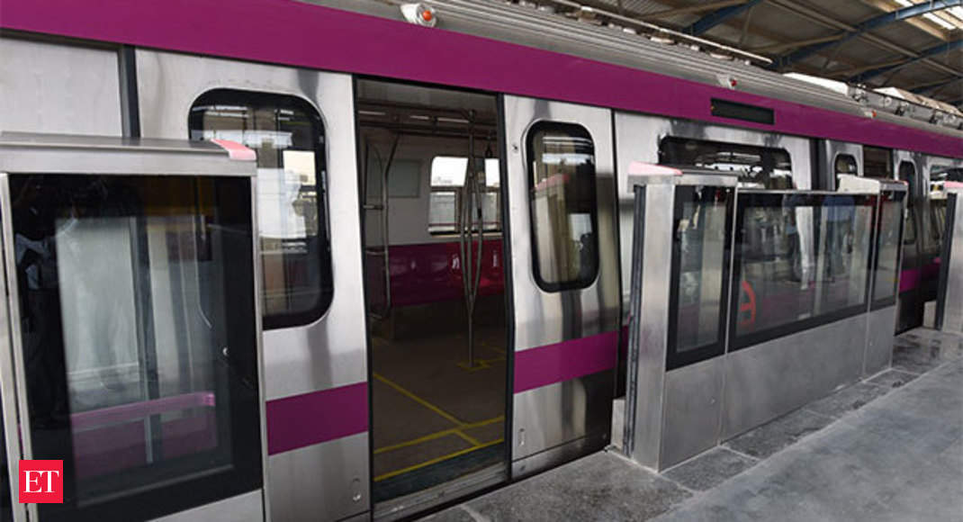 Delhi Metro Magenta Line Platform Screen Doors Hi Tech
