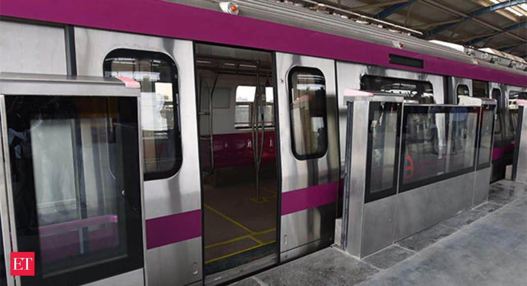 Delhi Metro Magenta Line Platform Screen Doors Hi Tech