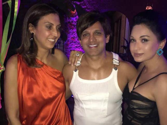 From left, Tanya Godrej, Yash Birla and Sheetal Mafatlal.  (Instagram: Yash Birla)