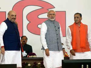 Gujarat: Rupani sworn-in as CM in massive BJP show of strength