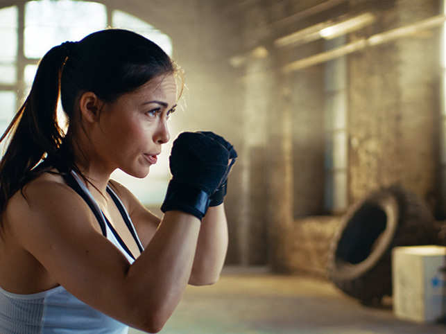 Kicking the butt in the ring is emerging as the new form of fitness, not to mention a valuable life skill in times of rising crime against women.