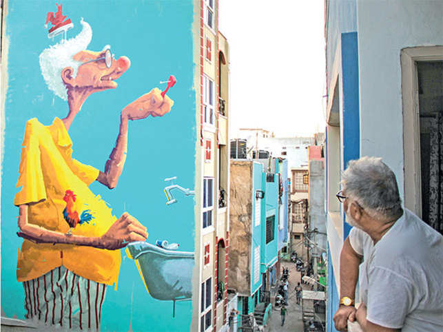 Street Wall Art Painting