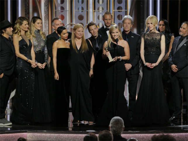 Frances McDormand gives fiery speech after best actress Golden Globes win