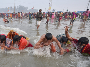 Over 20 lakh devotees take holy dip on Makar Sankranti