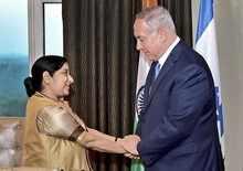 Sushma Swaraj meets Netanyahu