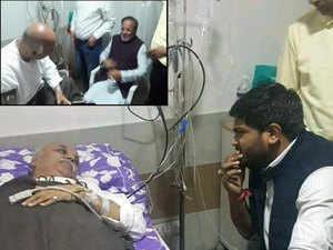 Watch: Hardik Patel, Arjun Modhwadia meet VHP leader Togadia in hospital