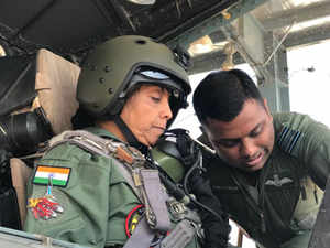 69b45de2a98 Save. Full video  Defence Minister Sitharaman undertakes sortie in Sukhoi  30 MKI