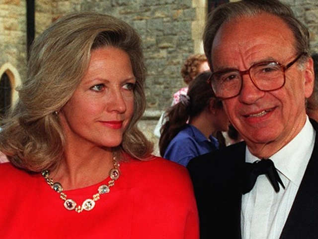 Rupert Murdoch and ex-wife Anna Maria Torv