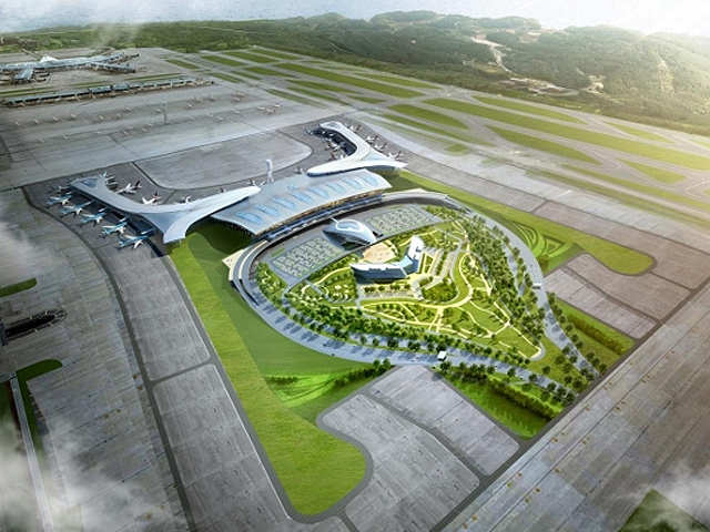 Seoul\'s Incheon Airport opens its second terminal - Aerial View ...