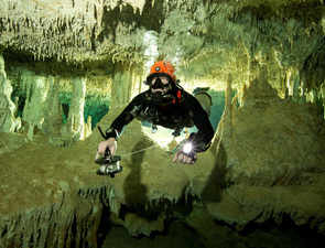 The world's largest flooded underwater cave found in Mexico