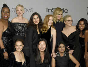 A-list celebs and designers to auction 'black' Golden Globes dresses for #TimesUp movement