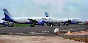 New Delhi: **FILE** InterGlobe Aviation-run budget carrier IndiGo on Friday canc...