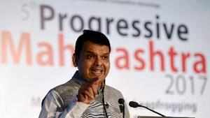 Mumbai: Maharashtra Chief Minister Devendra Fadnavis speaks during the 5th Progr...