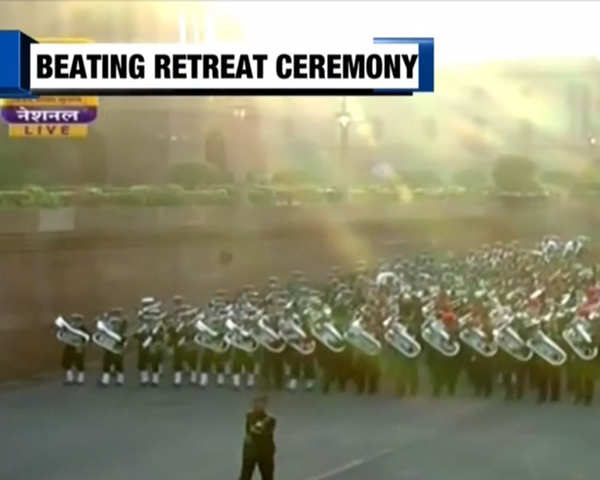 Watch: Beating Retreat ceremony marks end of R-Day celebrations