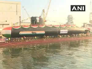 Indian Navy launches 3rd Scorpene-class submarine Karanj