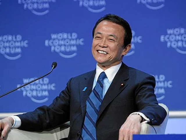 Image result for Finance Minister Taro Aso, photos