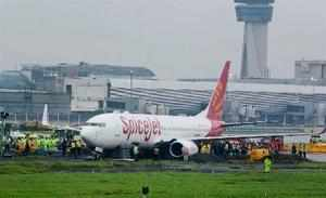 Mumbai : SpiceJet's Boeing 737 Aircraft, with 183 people on board, skidded off t...