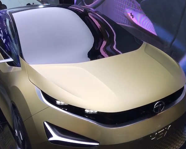 Auto Expo 2018: Watch: Tata Motors' 45X Hatchback Concept revealed at Auto Expo 2018 - The Economic Times Video | ET Now