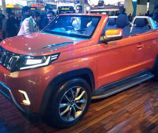 Mahindra & Mahindra unveiled India's first convertible SUV, 'TUV Stinger', at Auto Expo 2018