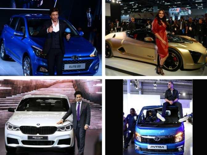 Auto Expo 2018 Srk Sachin Tendulkar All The Star Power