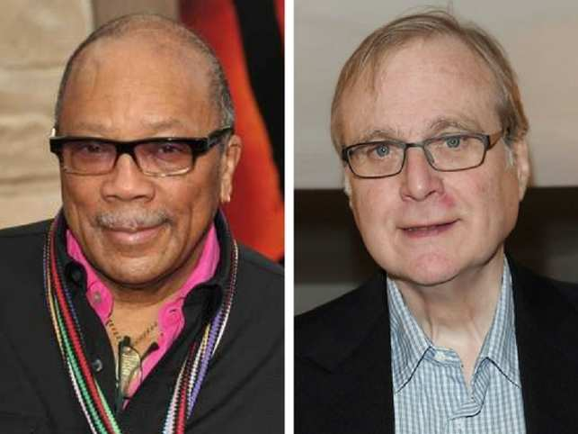 ​Quincy Jones (left) and Paul Allen
