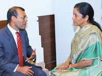 Maldives crises: Amid call for help, Mohamed Nasheed meets Defence Minister Nirmala Sitharaman