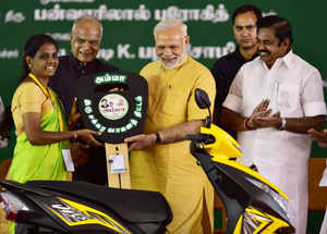 PM Modi launches Amma scooter scheme On Jayalalithaa's 70th birth anniversary