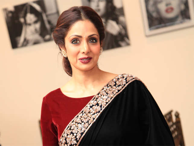 Wrapped in tricolor, Sridevi begins her last journey