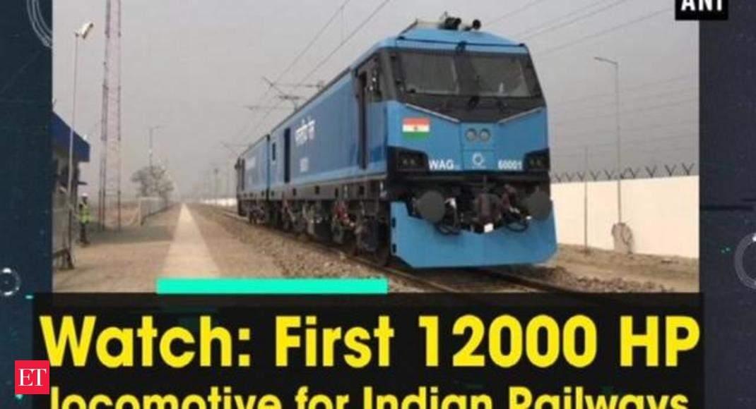 a2f600ac5b Indian Railways  Watch  First 12000 HP locomotive for Indian Railways