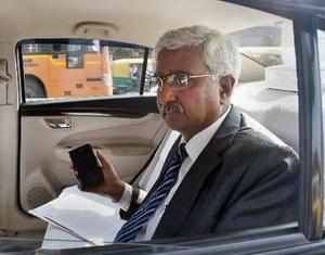 New Delhi: Delhi Chief Secretary Anshu Prakash exits after meeting Lt Governor A...