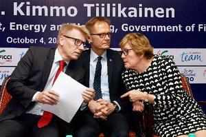 New Delhi: Finland's Minister for Environment and Energy Kimmo Tiilikainen talks...