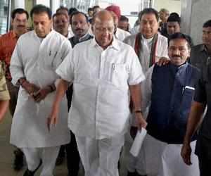 Nagpur: Nationalist Congress Party (NCP) President Sharad Pawar arrives at Nagpu...