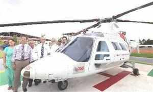 Coimbatore: A hospital-base air-ambulance during a press review at Ganga Hospita...
