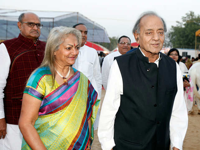 Kamal Morarka and his wife Bharti at the inaugural ceremony of the Shekhawati festival this year.