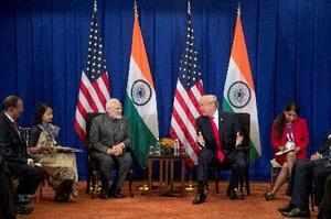 Manila: President Donald Trump, right, and Indian Prime Minister Narendra Modi ...