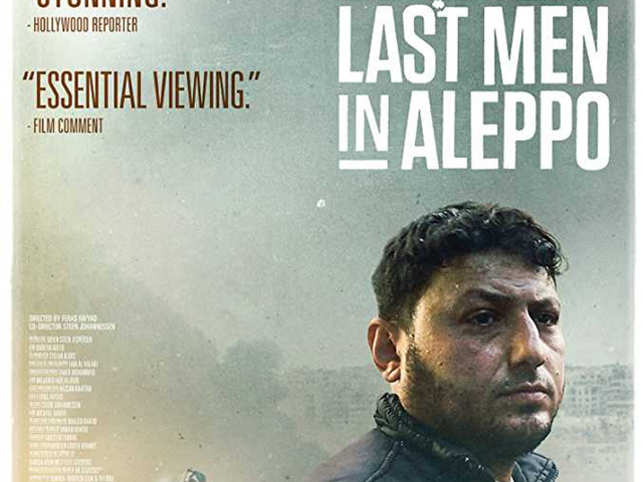 'Last Men in Aleppo' focuses on the White Helmets, a search and rescue volunteer organization that has tried to save lives and respond to bombing attacks in the war-torn country.