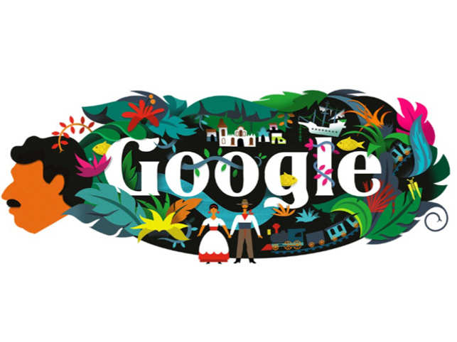 Google Logo For Gabriel Garcia Marquez, Columbian Writer