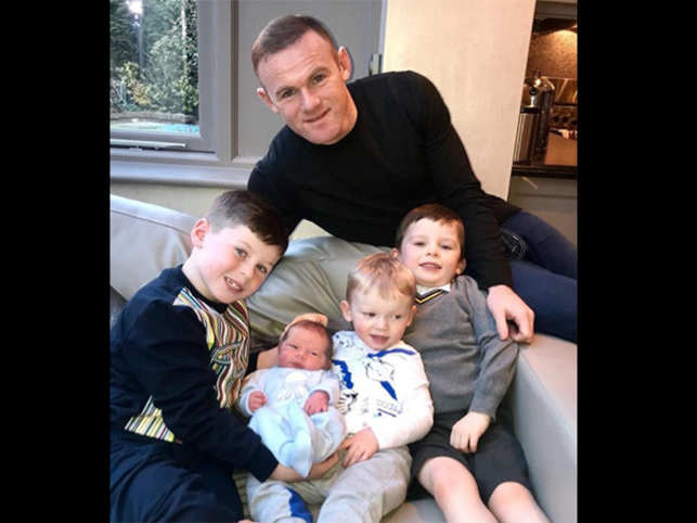 The Rooneys added to their brood of boys with littlest member Cass. And Wayne, with football never far from his mind, cutely captioned the picture of himself with his four boys as '5-a-side-team complete' as he introduced his son to the world.