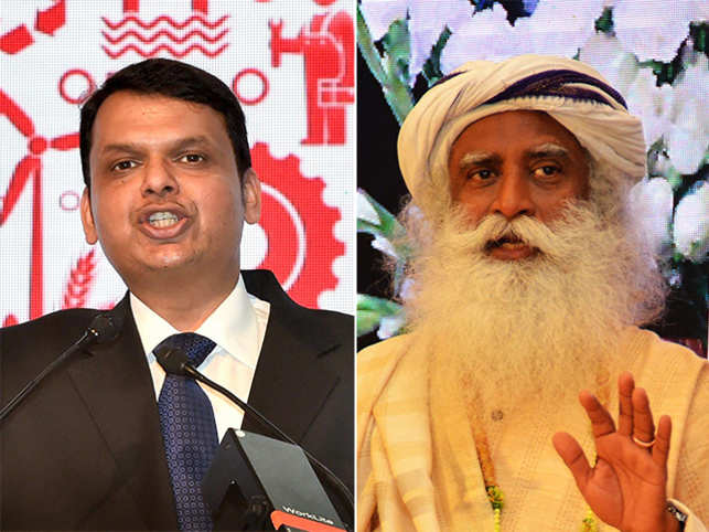 This year's honours at the Olive Crown Awards will be given away in the presence of Maharashtra Chief Minister Devendra Fadnavis (L) and Sadhguru Jaggi Vasudev (R).